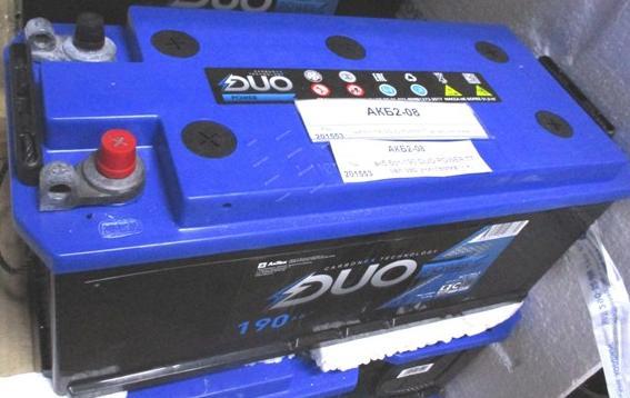акб 6ст-190 DUO POWER TT зал зар униклемма (- +)