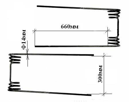 Зуб пружинный  (Ф-14мм) (БСП-21, БЗГТ-24)