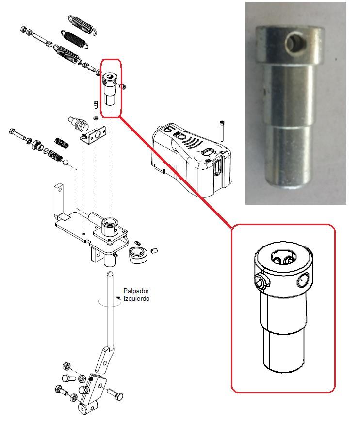 Гильза механизма контроля (K035) (Industrias David)