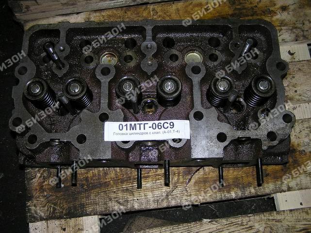 Головка цилиндров с клап. (А-01, Т-4) под поршни с проточкой (Ремонт)