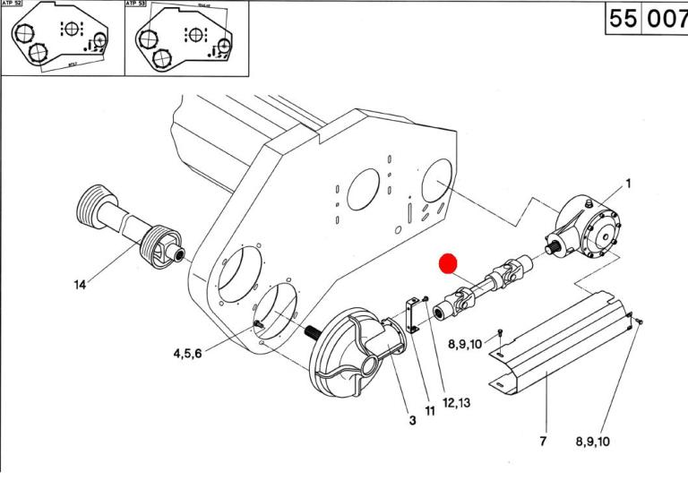 Вал карданный (Герингофф HS,PCA,RD) W2300 Lz 256