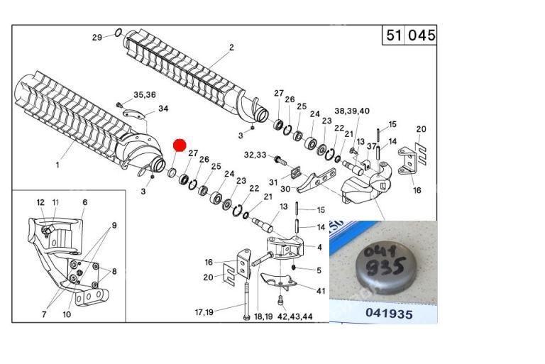 Крышка ф32 DIN442 подш. 6202 вальца русла (RD Герингофф)