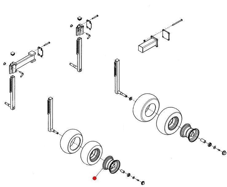 Диск колеса 16х6,50-8 (Айнбек)