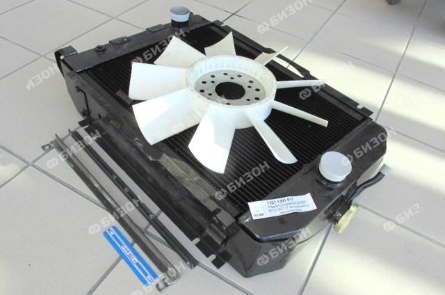 Радиатор водяной Д-260, МТЗ-1221 (7-ми рядный) с вентилятором
