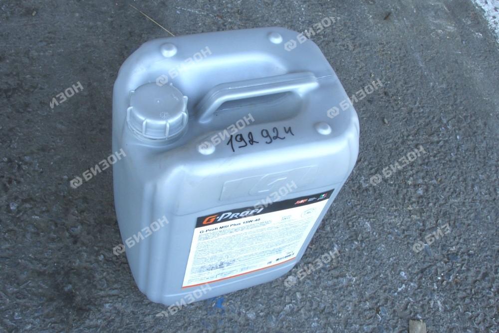 Масло моторное 15W40 G-Profi MSI Plus Газпром (API CH-4, CG-4, CF-4), 20 л