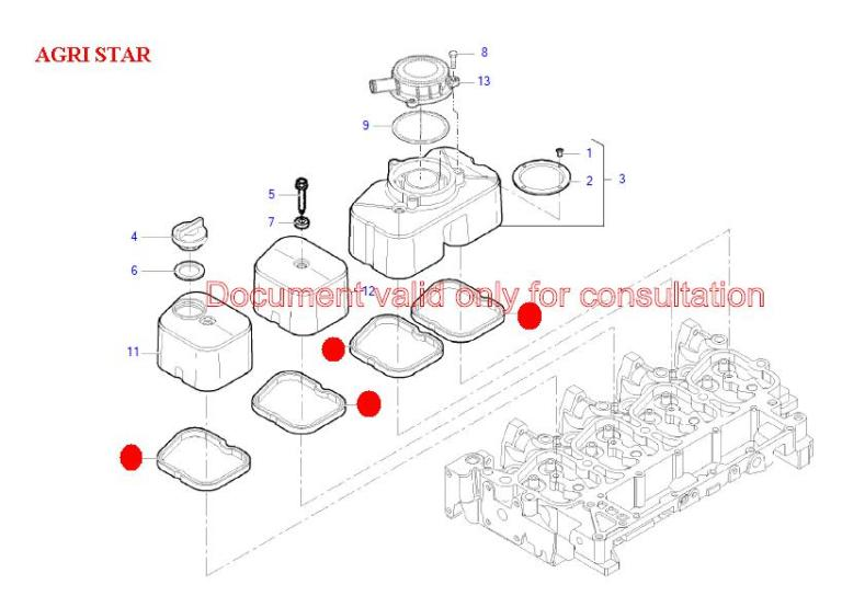 Прокладка клапанной крышки (Agri Star, Agri Tech, Agri Max, Icarus, Agri Plus DIECI)