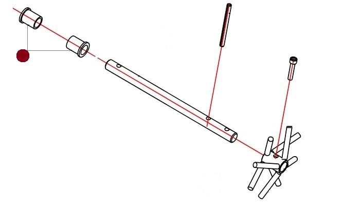 Втулка 25х32х40мм ворошилки (Alpha Раух)
