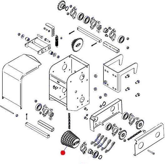 Блок звездочек большой (7 звез.) приводного редуктора (Матермак)
