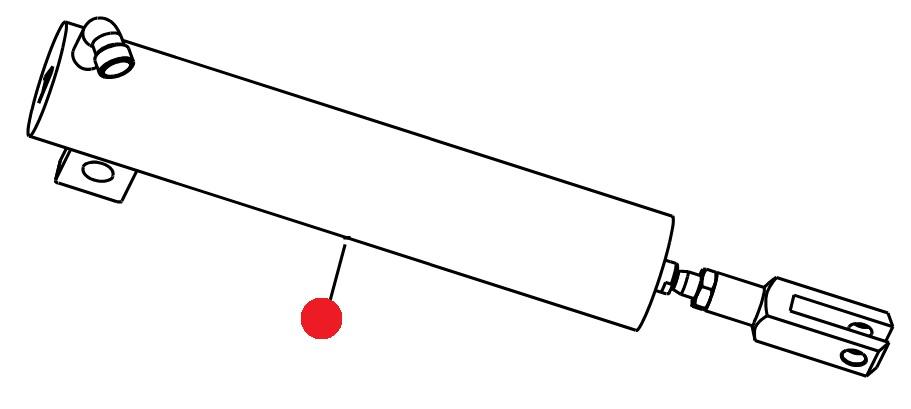 Гидроцилиндр E-16-90-386-M12 управления шиберами (замена 4021034) (MDS-935, Раух)
