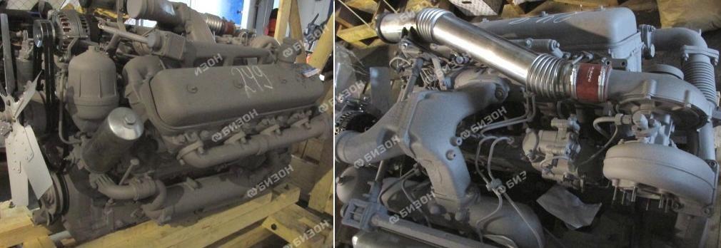 Двигатель ЯМЗ-238НД-8 (К-744Р1) старт., генерат., ТКР