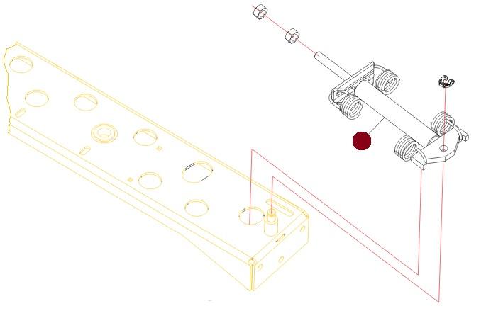 Гидроцилиндр управления шиберами (Axis M30.1/40.1, MDS-19.1,20.2 Раух)