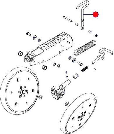Рукоятка регулир. давления V-образ. прикатывающих колес (Матермак)
