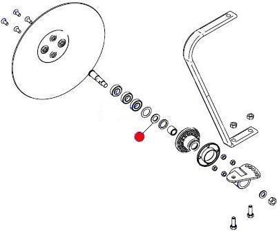 Втулка колеса контроля глубины D=29,5, d=17, L=2,35 SCL 1 D20,0 (Матермак)