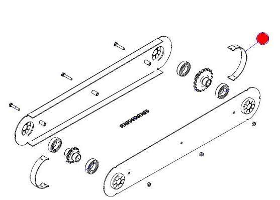 Щиток цепной передачи Ф110 H20 (Матермак)