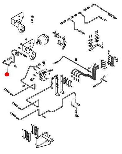 Трубка гидравлическая гидроаккумулятора (MT665C)
