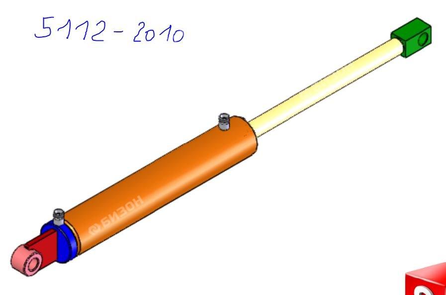 Гидроцилиндр подъёма крыла L=580 mm D=75 mm (Айнбек)