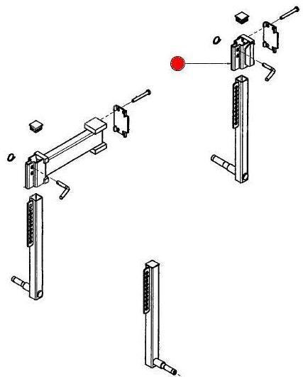 Кронштейн стойки колеса 18,5х8,50-8 (Айнбек)