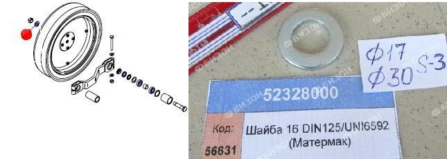 Шайба 17х30х3 DIN125/UNI6592 (Матермак)