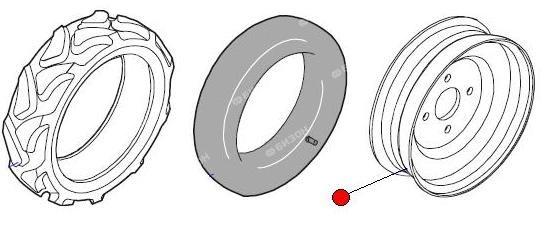 Диск колеса опорно-приводн. для шины 23х10.5/12 (Матермак)