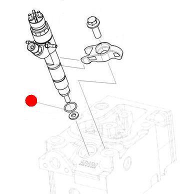 Кольцо уплотнительное распылителя форсунки (Император 3100E Стара)