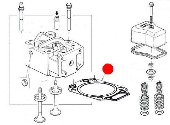 Прокладка ГБЦ 1.4 мм (Император 3100E Стара)