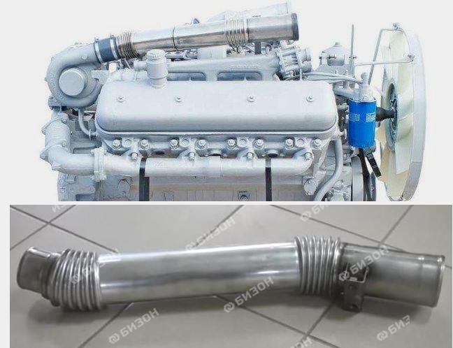 Труба системы питания воздухом (ТКР - интеркулер) ЯМЗ-7511.10