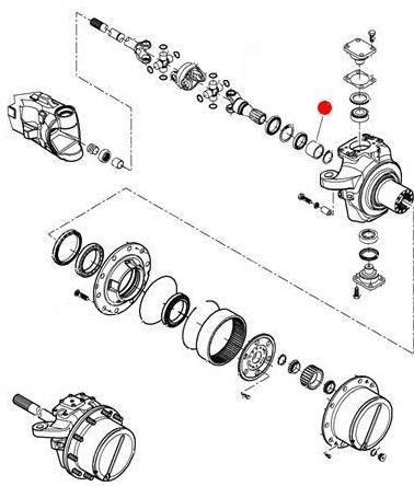 Втулка переднего бортового редуктора (MT600D)