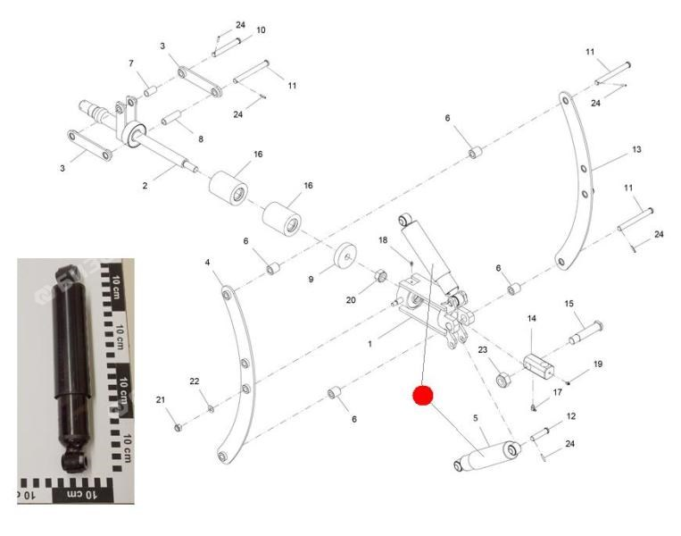 Амортизатор боковой (Император 3100/3100E Стара)