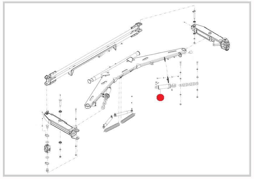 Гидроцилиндр блокировки штанги (Император 3100/3100E, 3.0/3.0E Стара)