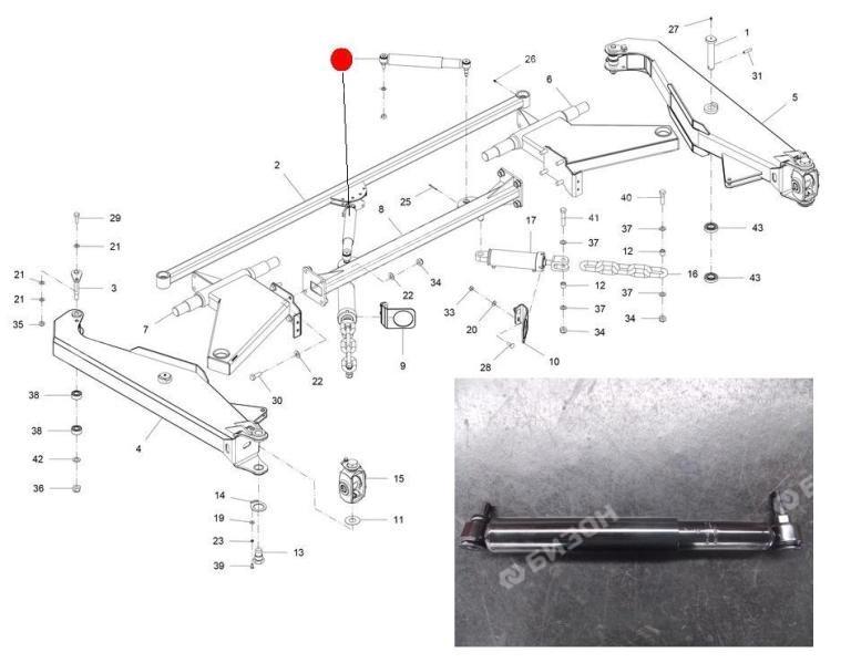 Амортизатор COFAP CB27220 3487 10-B-07 (Император 3100/3100E, 4000 Стара)