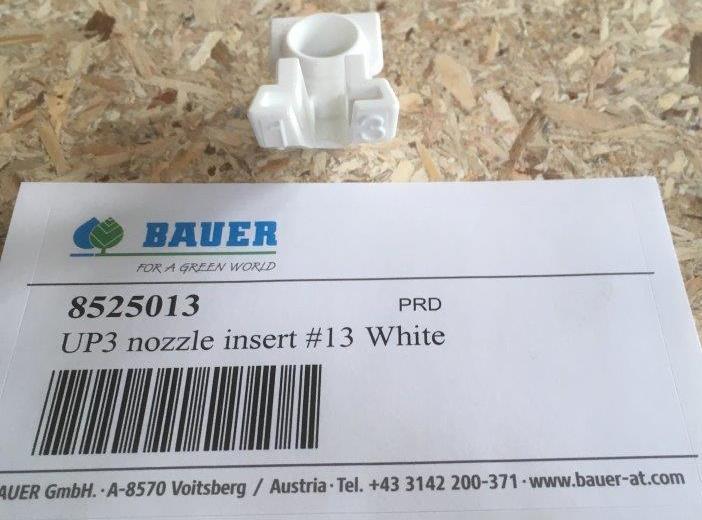Вставка форсунки UP3 №13  Белая (d = 5,16 мм) (Bauer)
