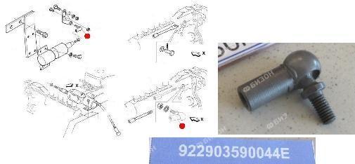 Шарнир тяги отсечного соленоида (М6) (Император 3100 Стара)