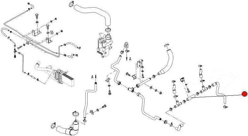Патрубок вод. системы (Fendt 936)