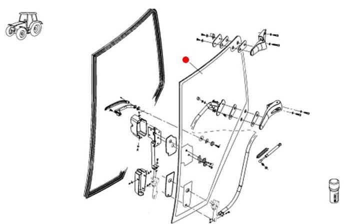 Стекло двери (Fendt 933 SCR)