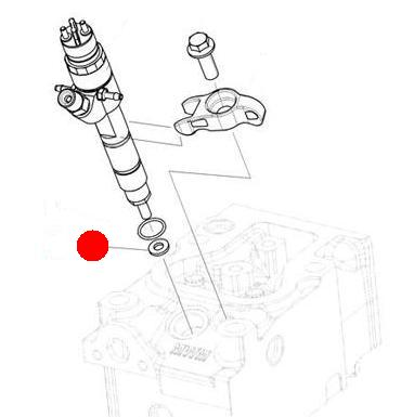 Кольцо уплотнительное форсунки (Император 3100E Стара)