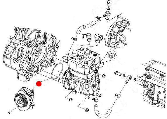 Кольцо уплотнительное воздушного компрессора (Император 3100E Стара)
