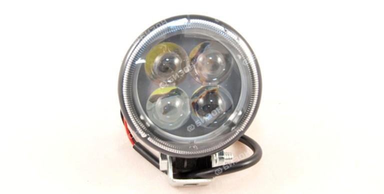 Фара светодиодная Автоэлектрика 12W, 4 диодов (82х52х120), 12/24V направленный свет