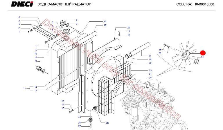 Вентилятор двиг. (Dedalus 30.7 DIECI)