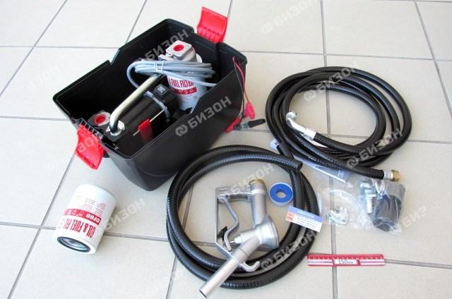 Комплект мобильный для перекачки дизельного топлива с фильтром (U=12 В) Piusubox PRO
