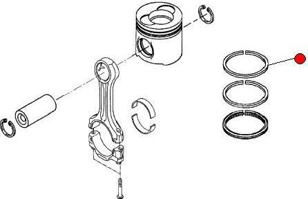 Кольцо поршневое 1-е (Fendt 930) (MAN) компр.