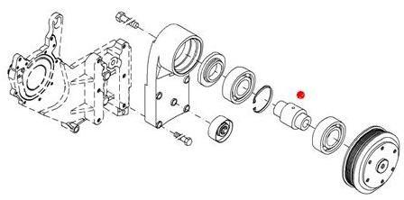 Вал привода вентилятора (Fendt 936)