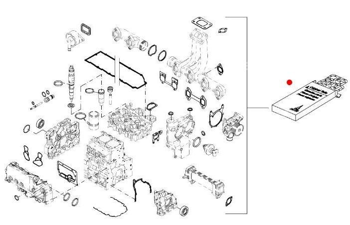 Комплект прокладок двигателя (Fendt 936) (Deutz)