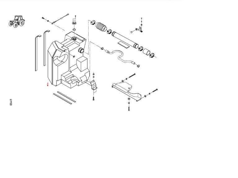 Бак топливный (Fendt 930) правый (H916201061200)