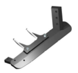 Нож подрезной 490 мм правый (Industrias David)