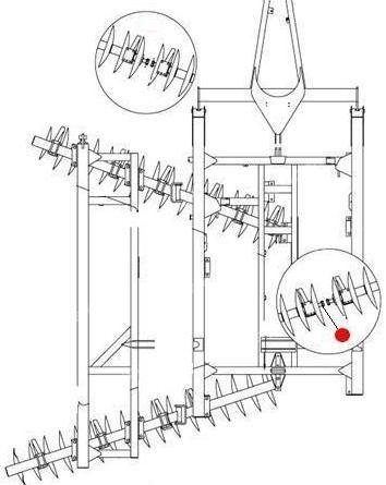 "Вал батареи 1¾"" х 76½"" (Ф44,45мм, L=1943мм) (1435,1550 Санфлауэр)"
