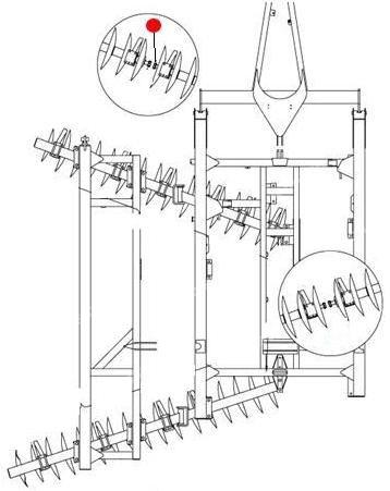 "Вал батареи 1¾"" х 85½"" (Ф44,45мм, L=2172мм) (1435,1550 Санфлауэр)"