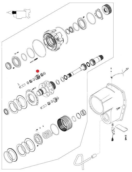 Комплект планетарных шестерен Z=20/23 (Valtra T190,T193H)