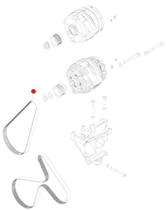 Ремень поликлин. (6PK-894) (Valtra T193H)