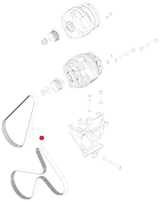 Ремень поликлин. (6PK-1255) (Valtra T193H)