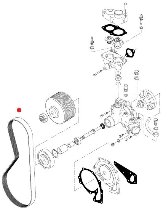 Ремень поликлин. (8PK-1330) (Valtra T193H)